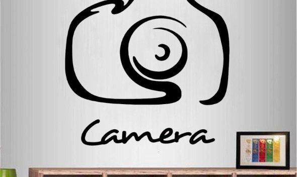 JOYRESIDE Camera Sticker Photo Studio Decals Vinyl Dorm Kids Girls room Living room Interior Bedroom Home Design Art Mural A1335