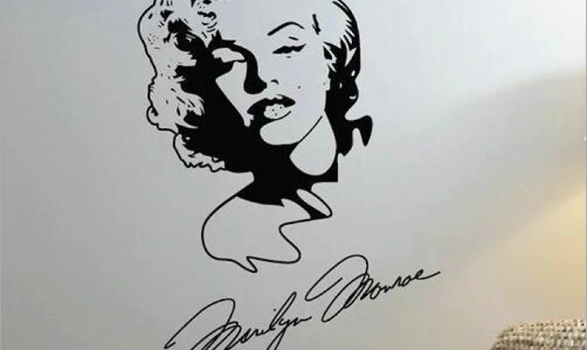 Marilyn Monroe Wall Sticker Home Design Decoration Girls Room Wallpaper Vintage Poster Vinyl Mural Stickers Vinilos Paredes A893