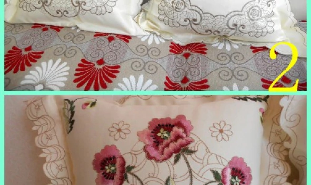 Beautiful design  fashion design pillow case with embroidery flowers square 100% cotton lining cushion pillow cover for home