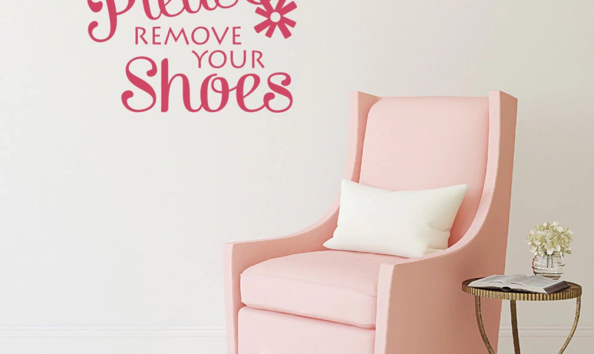 Family Wall Sticker Please Remove Your Shoes Quote Wall Decals Home Design Wall Decoration Home Enter Sign Wall Murals AY1127