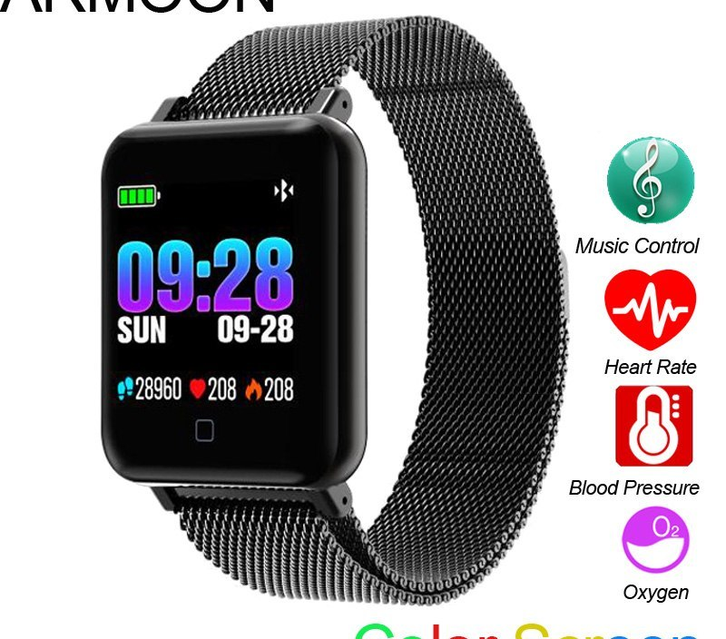 Smart Watch M21 Android IOS Men Watch Heart Rate Smart Band Sleep Monitor Fitness Tracker Color Screen Music Control Sport Watch