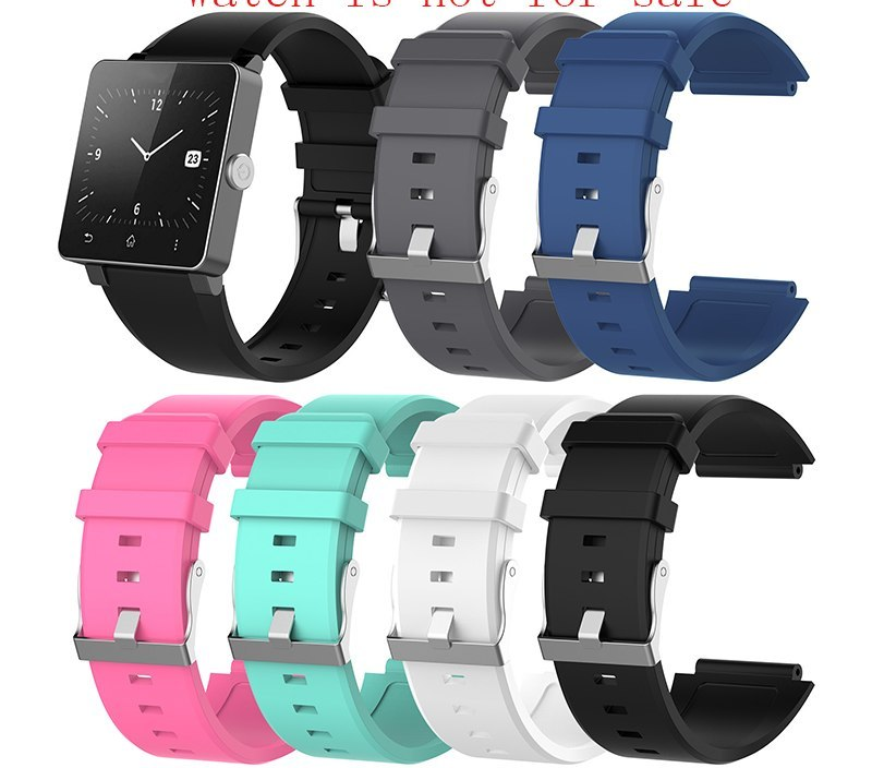 Watch accessories 2018 latest for Sony SmartWatch2 SW2 smart watch men's and women's outdoor sports silicone strap
