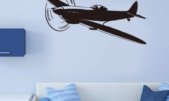 Airplane Kids Room Vinyl Wall Stickers Boys Room Decals Removable Waterproof Art Wallpaper Home Design Wall Tattoo Mural SA421