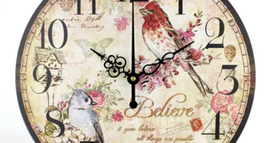 Wall Clock Modern Design Vintage Flowered Chic Office Cafe Room decoration Clocks for Home Kitchen Wall Large Watch Wall Decor