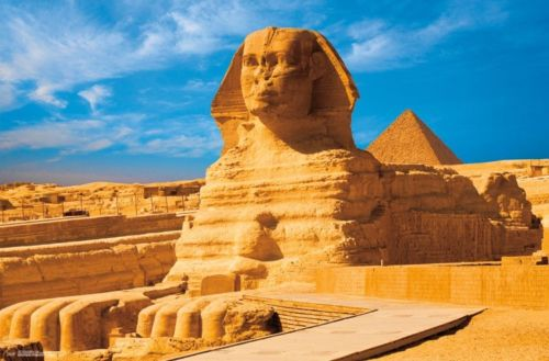 THE GREAT SPHINX OF GIZA   ANCIENT EGYPT TRAVEL SILK POSTER Decorative Wall painting 24x36inch
