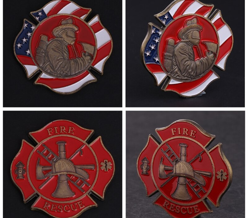 Ramadan Festival GiftsCommemorative Coin American Firefighting Mark Fire Collection Art Gifts Souvenir