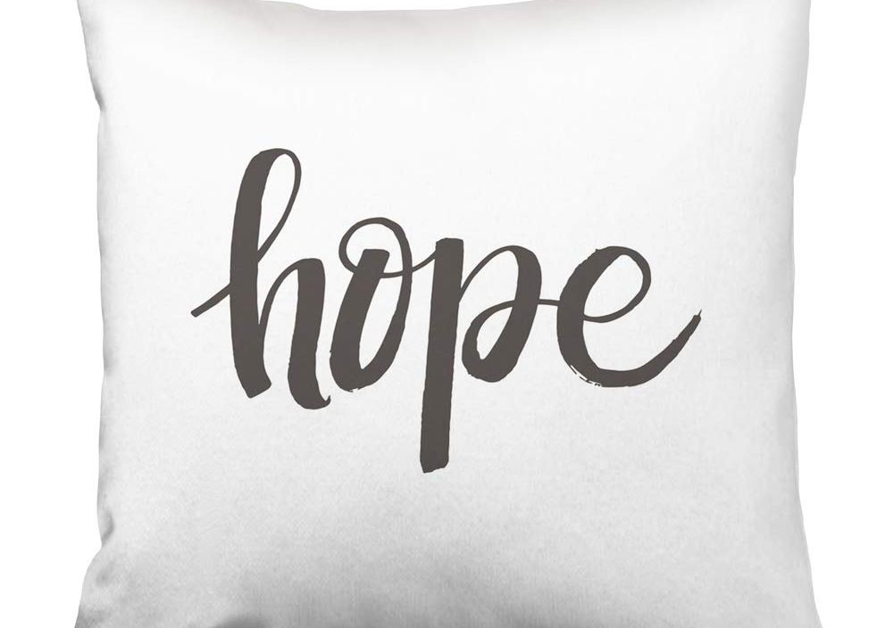 Hope Grey Letters The White Word Vintage Written Abstract Print Home Design Square Set Cushion Case Bedroom Pillowcase