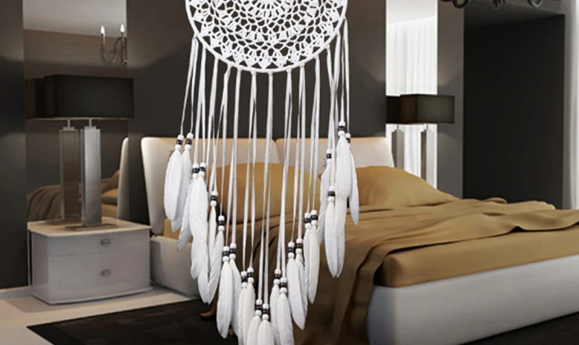 Handmade Dream Catcher With Rattan Bead Feathers Wall Car Hanging Decoration Ornament Dreamcatcher Home Design