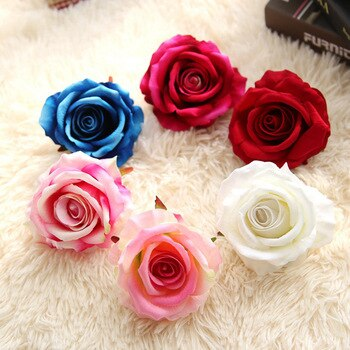 Brand New Fashion Artificial Flower 5 Head Latex Touch Rose For Wedding Party Home Design Bouquet Home Decoration K15