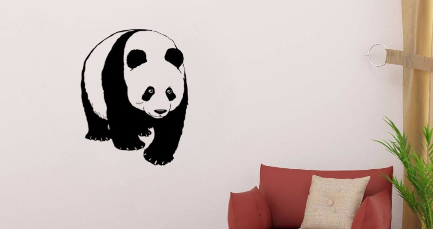 JOYRESIDE Panda  Wall Cute Animals Decal Vinyl Stickers Interior Decor Bedroom Living Room Home Design Decoration Art Mural A221