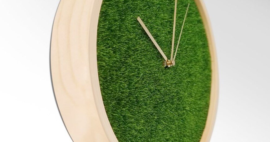 Wooden Green Plant Wall Clock Modern Design Living Room Solid Clock Bedroom Clock Mute Green Home Design Relogio Parede WZH719