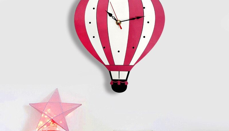 Diy Wall Clock Clock In The Nursery Wall Wall Watch Nordic Design Living Room Deco Carton Children'S Room Deco Home Design Cute