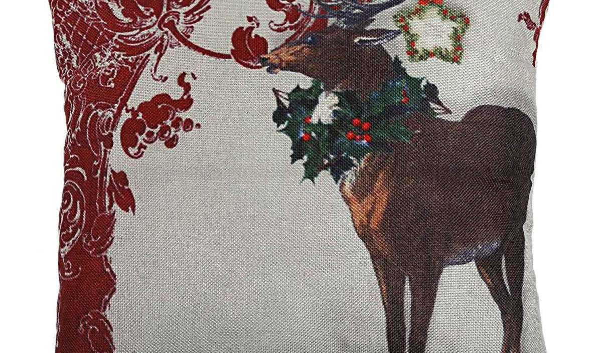 Christmas Snowman Reindeer Elk Flax Pillow Case 18 x 18 inch pillow cover Home Design Pillow Case