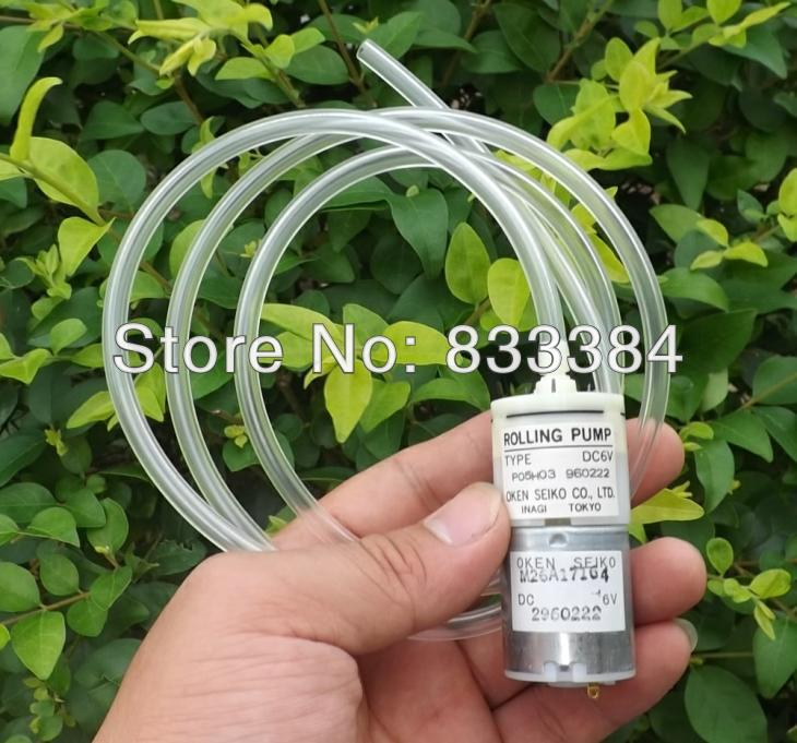 Wholesale 2PC New OKEN SEIKO 6V 500mmHg Micro Air Pump Pressure Pump +1M pipe for fish tank Medical instruments, free ship