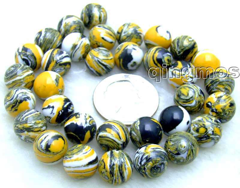 SALE Big 12mm Yellow Multicolor Round agate beads strands 15″ -los580 Wholesale/retail Free ship