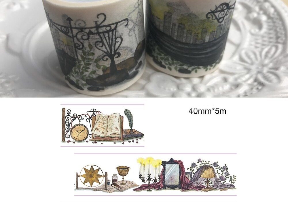4cm 5m 1 pcs Alchemist's home design washi tape Scrapbook use as Sticker gift seal Label Masking home gift decor