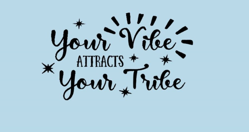 JOYRESIDE Quote Wall Decor Your Vibe Attracts Your Tribe Sticker Decals Vinyl Decorations Living room Home Design Murals A1203