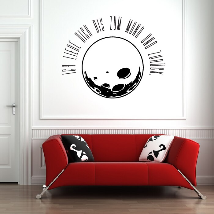 Artistic Moon Vinyl Wall Stickers Removable Wall Decal Home Design Creative Wall Decals DIY Self-adhesive Hot Sale Mural SA352