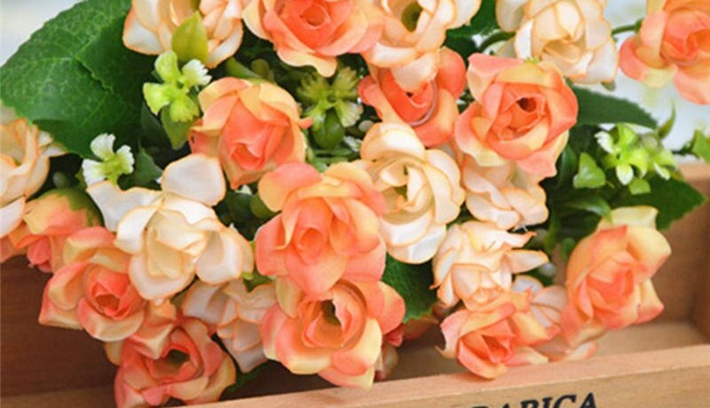 25 Head Latex Touch Rose Flowers For wedding Party Home Design Bouquet Decor 2017 NEW European Style new ornament fake flowers