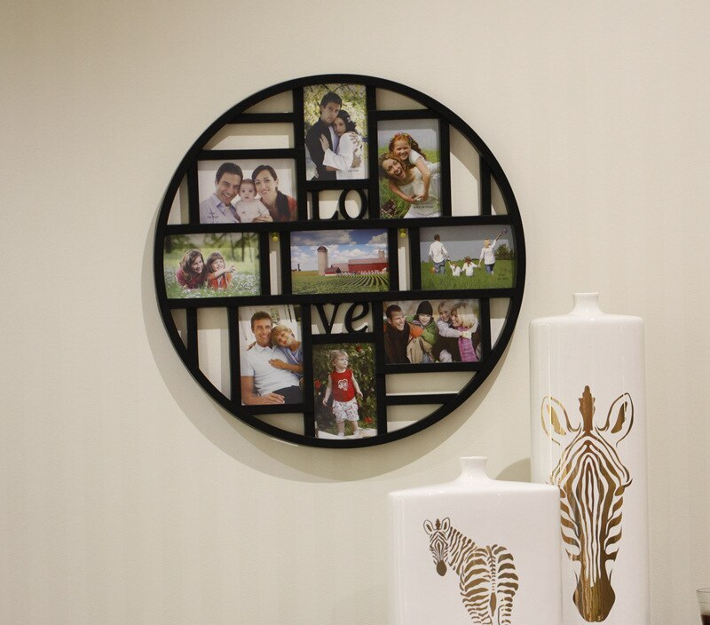 New  9 Photo Frame Combination Home Design Wedding Photo Frame Wall Decoration Wooden Picture Frame  White Black