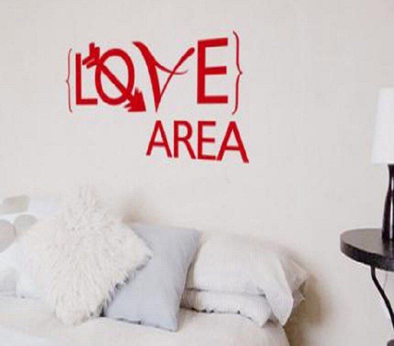 Wall Sticker quote Love Area bedroom Vinyl Removable wall decal Creative Room Wall Decal Art Home Design decoration
