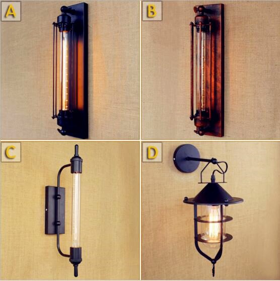 Antique Retro Vintage Stair Vanity Wall Light Fixtures Style Loft Industrial Led Wall Light Sconces Bedside Home Designer Lampe