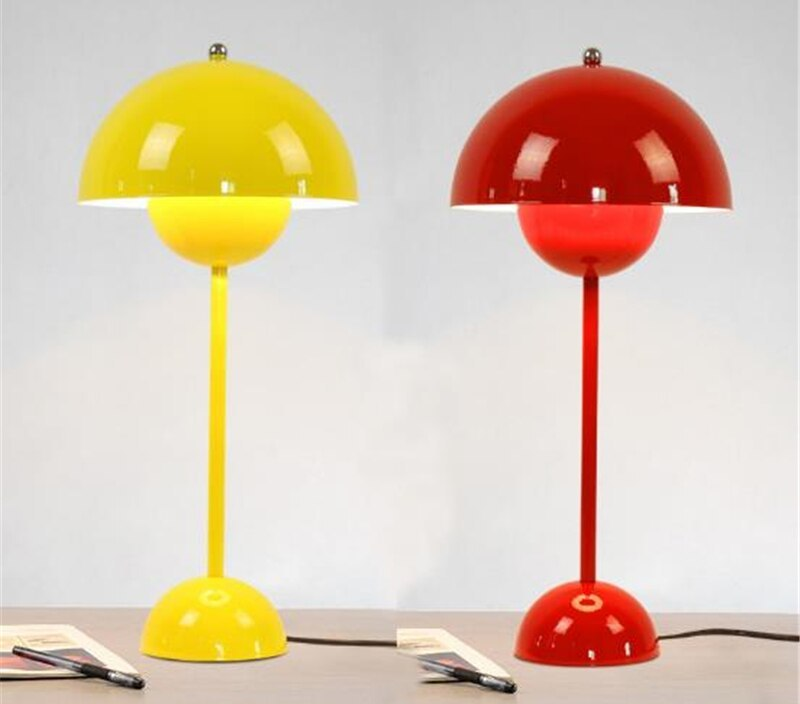 Nordic Home Designer Colorful Study Table Lamp Creative Iron Bedroom Bar Living Room Light With Led Bulbs Free Shipping