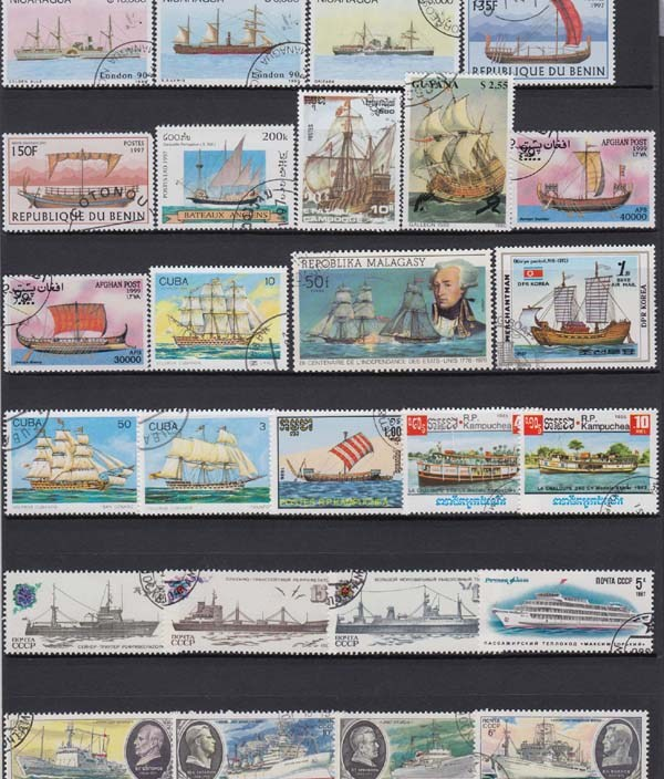 Sale 50Pcs/Lot Boat Ship Sail All Different From Many Countries NO Repeat Unused Postage Stamps for Collecting