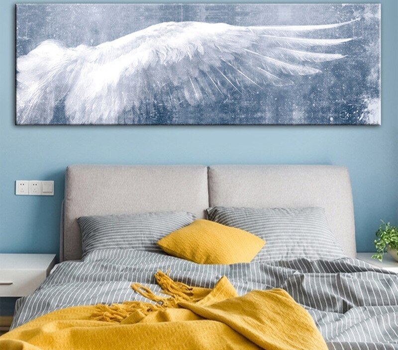 Abstract Vintage Angel Wings Canvas Painting Poster and Prints Decor Art Wall Picture Home Design Living Room Hotel Decoration