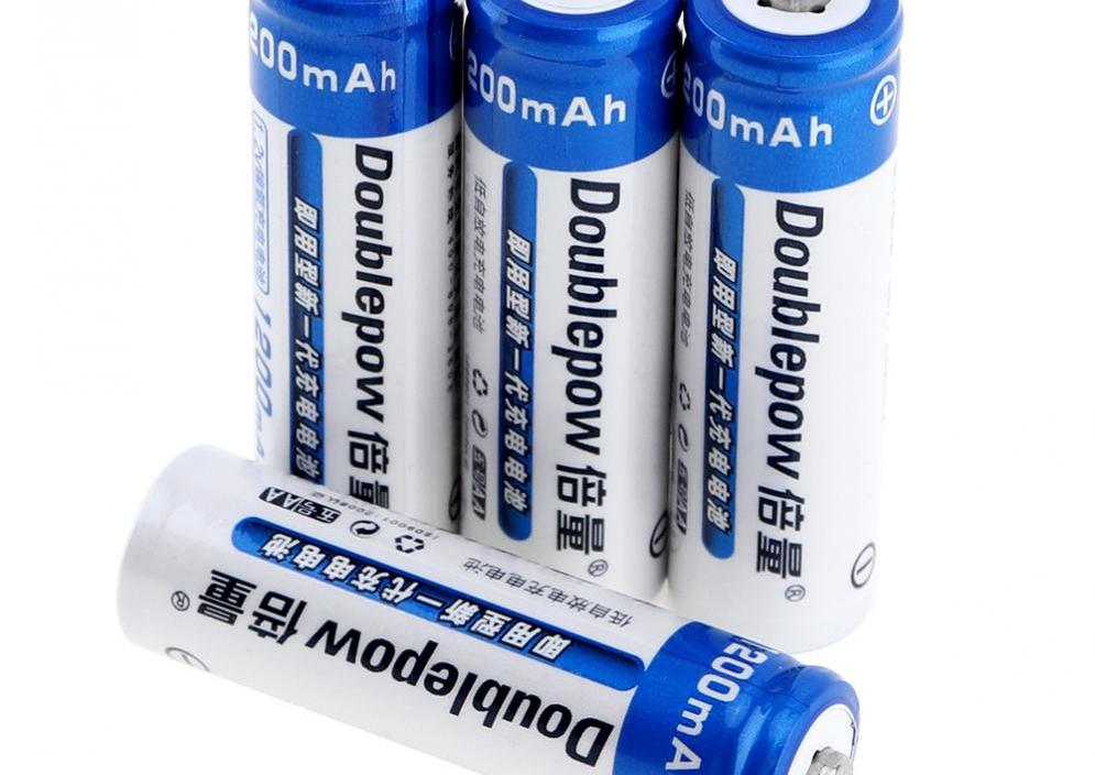 Sale 4pcs Doublepow LSD AA Battery 1200mAh 1.2V Rechargeable Ni-MH Batteries with 1200 Cycle