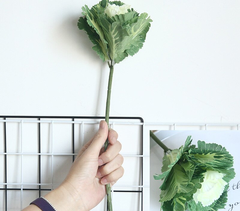 Decoration Artificial Plant Floral Cloth Home Design Display Centerpiece Vegetable Cabbage