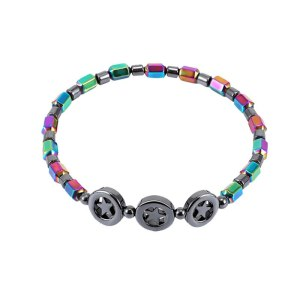 Weight Loss Round Mixed Color Stone Magnetic Therapy Bracelet Health Care Magnetic Hematite Ankle Chain For Men Women