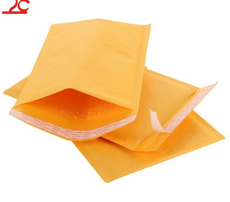 Sale 50pcs/Lot Paper Bags 11*15cm Kraft Paper Bubble Mail Padded Envelopes Jewelry Package Accessories Party School  Gift Bag