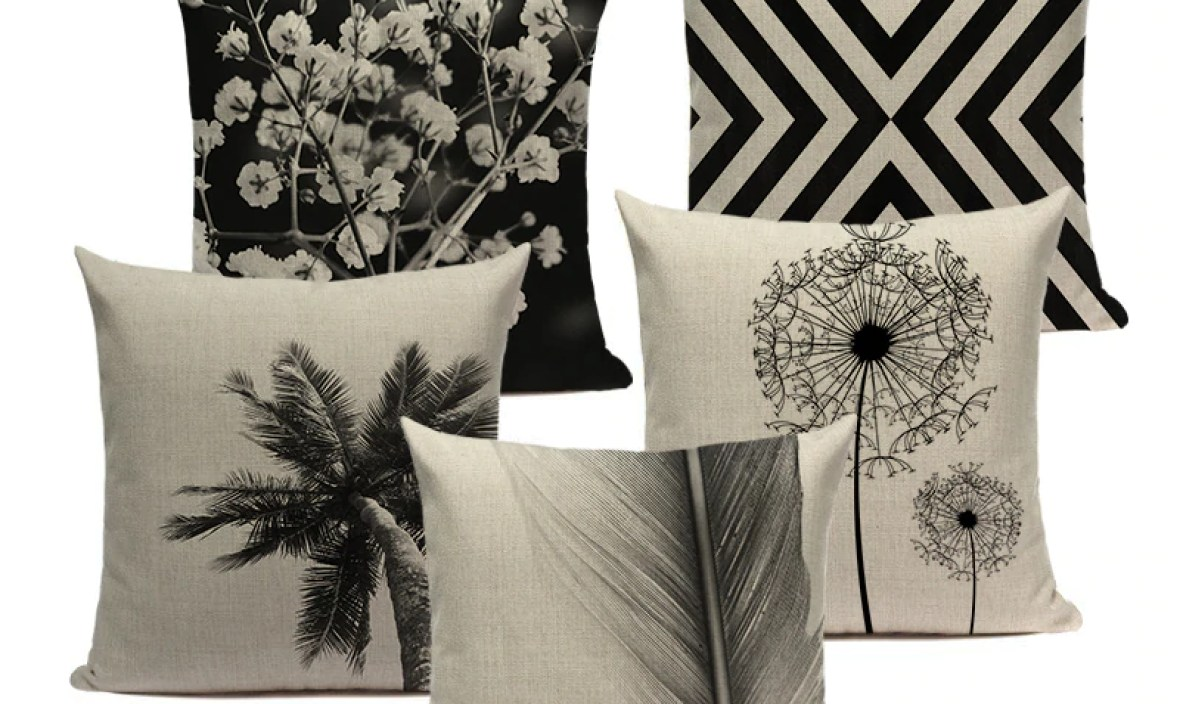 High Quality Cushion Covers  Geometry Black And White Cushions Decorative Throw Pillow Customied Sofa Cushion Cover For  Room
