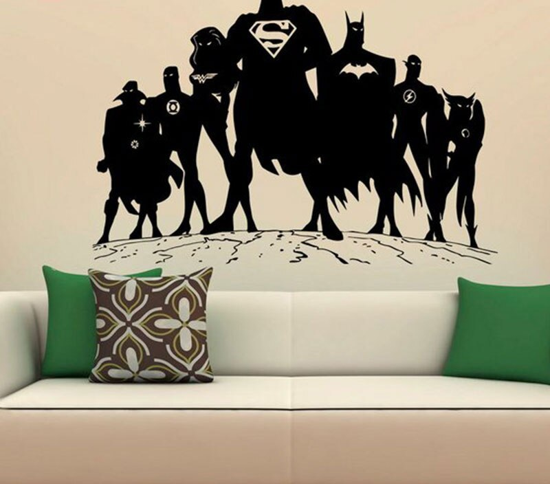 Superheroes Justice League Wall Decal Superman Vinyl Stickers Comics Interior Home Design Wall Art Murals Bedroom Decor 3423