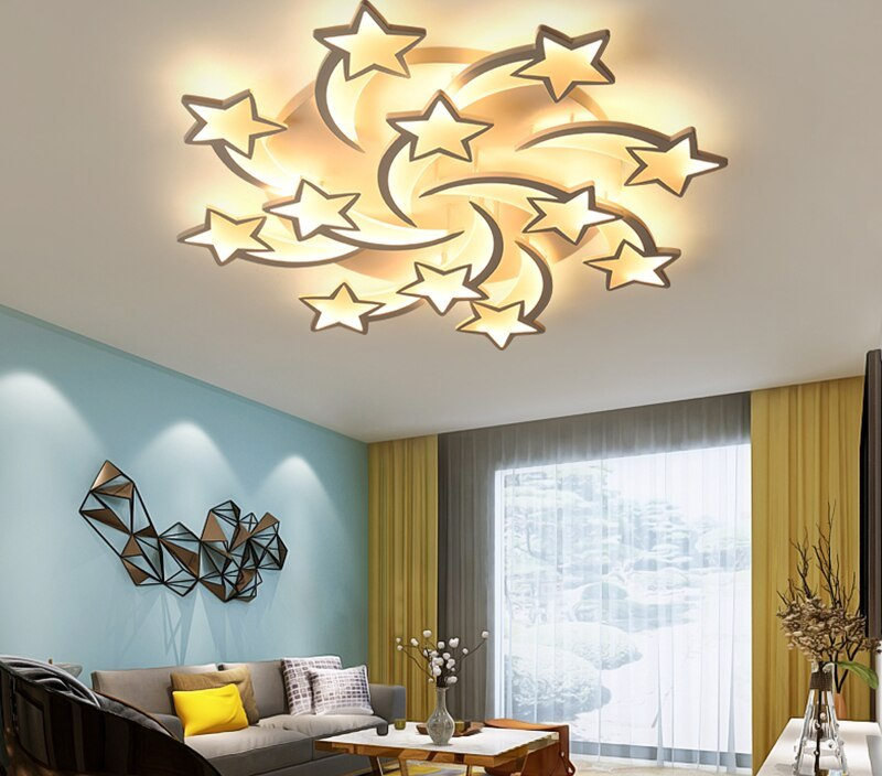Newest LED Ceiling light  Modern stars For Living Room Bedroom remote control Home design Ceiling lamp
