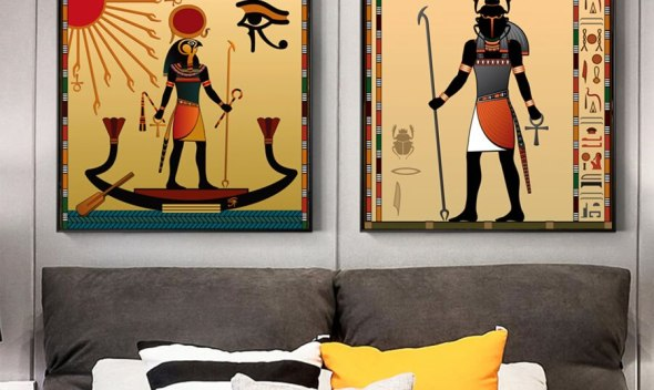 Ancient Egypt Wall Art Canvas Oil Painting Scarab Egypt God Pictures Canvas Posters And Prints For Home Living Room Decoration