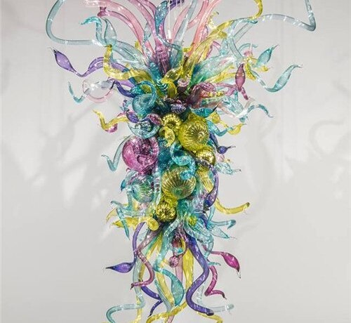 New Arrival Multi Colored Crystal Blown Glass Ceiling Chandelier for Decoration