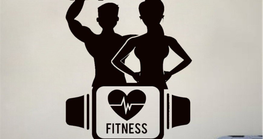 JOYRESIDE Fitness Love Sticker Sport Training Yoga Decals Vinyl Boys Girls Gym Living Room Bedroom Home Design Art Mural A1358