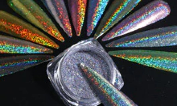 1g Glitter for Nails Holographic Dip Powder Mirror Polishing Chrome Pigments Nail Art Decorations Laser Dazzling Dust LA1028-1
