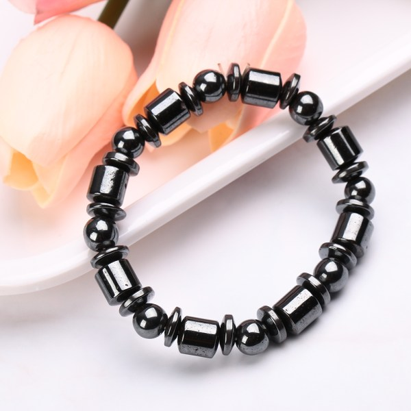 Weight Loss Magnetic Bracelet Stretch Bangle Colorful Healing Beads For Lose Weight Slimming Hematite Acupoint Massage Health