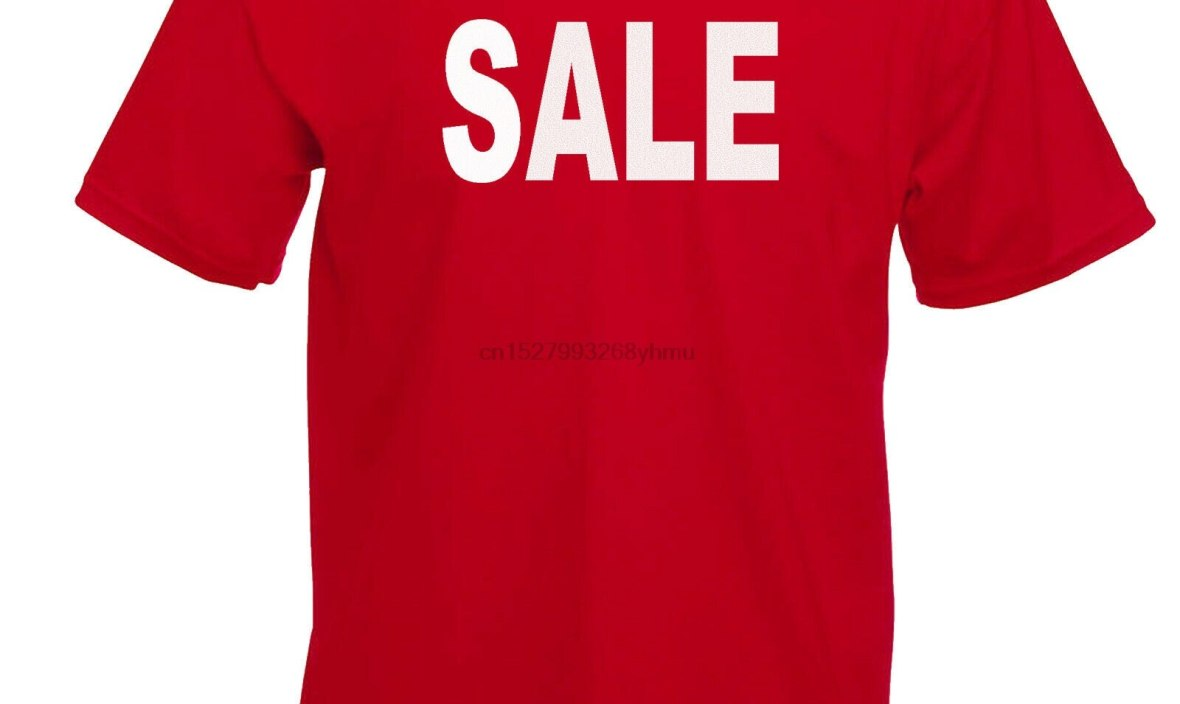 SALE T-SHIRT SSV funding SALE SHOP ADVERTISING WINDOW DISPLAY