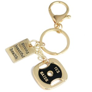 Weight Plate Keychain Workout Strong Beautiful Health Charm Weight Loss Gym Bag Key Ring Running CrossFit Jewelry
