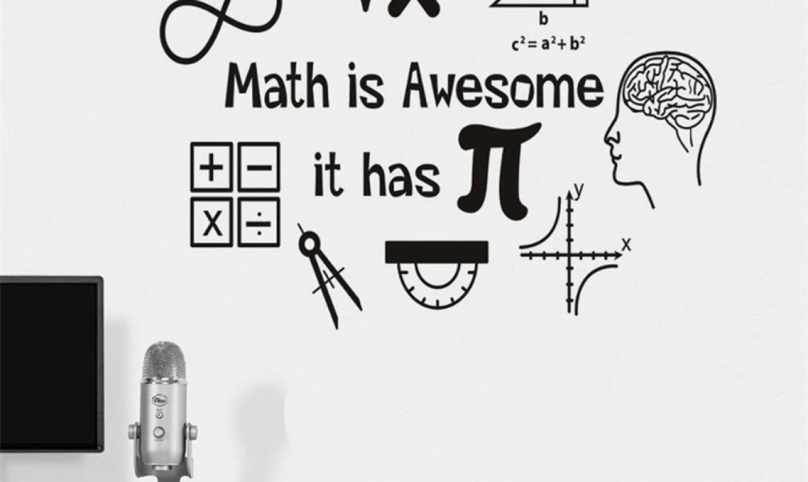 Math is awesome applique vinyl interior home design art mural Art Decor Home Decor Removable Vinyl Wall Sticker MY673