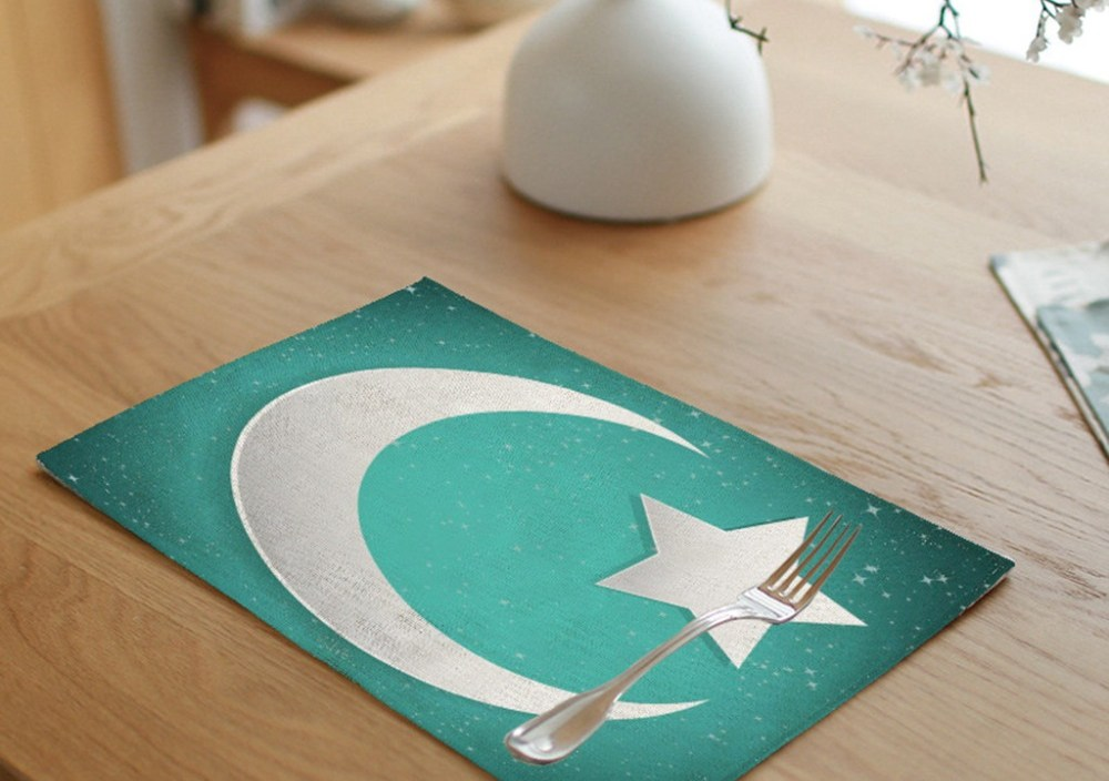 Ramadan Festival Decorations Restaurant Hotel Creative Household Table Mat Dining Table Placemat Kitchen Exquisite cutlery set