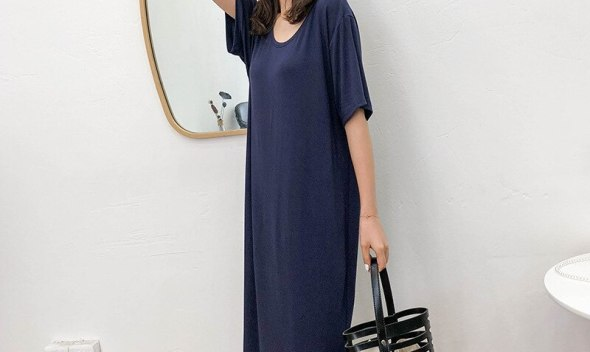 [End of Year Celebration] zmra zmra Korean-style WOMEN'S Wear New Style Solid Color behind Hollow out Dress