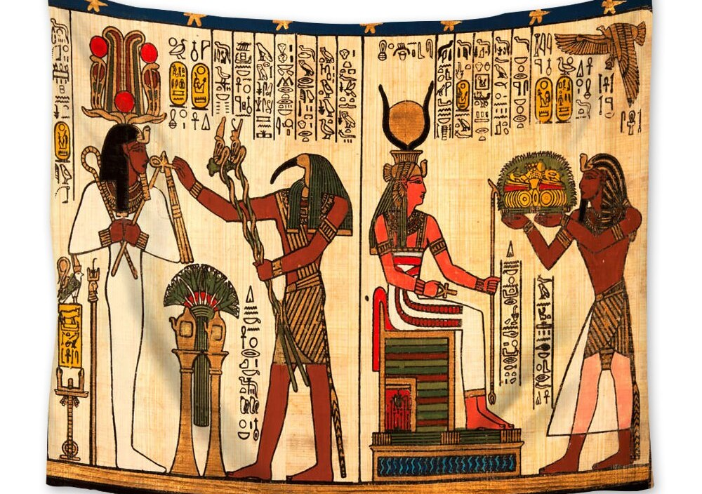 Ancient Egypt Print Tapestry Yoga Mat Blanket Room Decor Sleeping Pad Wall Hanging Living Room Home Decor Large Tapestry