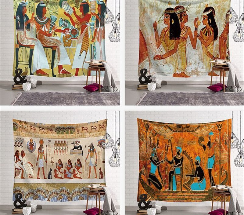 Ancient Egypt Printed Wall Tapestry Art Wall Tapestries Home Decoration Tapestry Wall Hanging Home Decor