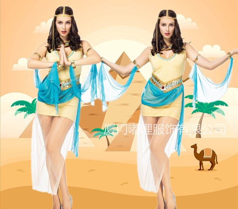 Ancient Egypt Pharaoh Egypt Women's Chief Queen Cleopatra Princess Dress New Style COS Stage Party Table Performance Clothing