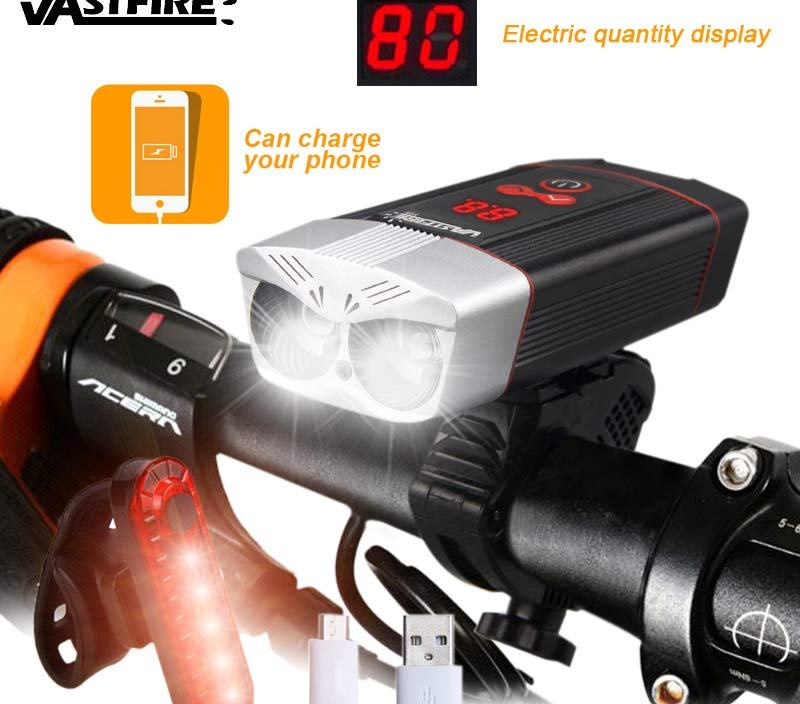 1200LM USB Rechargeable Bike Headlight 5 Modes Cycling Lamp MTB Road Bicycle Lamp with Intelligent LED Display